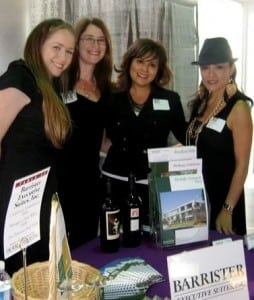 From left: Suite Managers Kerri Linda Morales and Sharon Northrup, Receptionist Pauline Steinberg and Chamber Volunteer Mercy Alpert