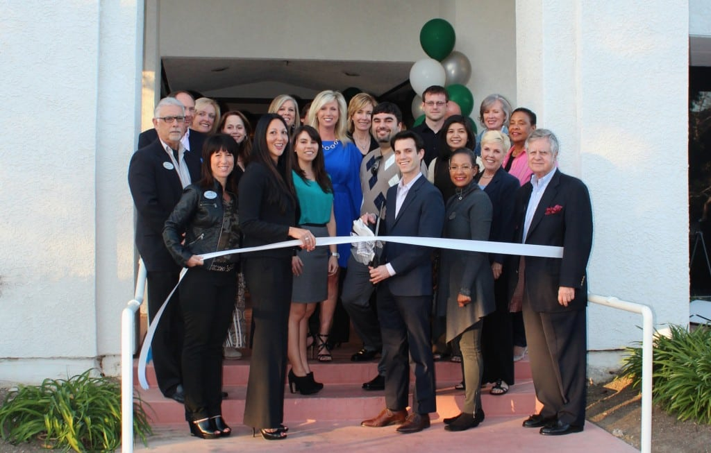 Barrister Executive Suites, Inc. employees and Greater Conejo Valley Chamber of Commerce members inaugurate the opening of Barrister Executive Suites, Inc. in Thousand Oaks