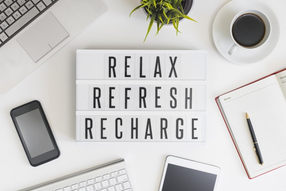 Relax, refresh and recharge in office
