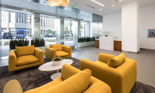 los angeles office suite receptionist