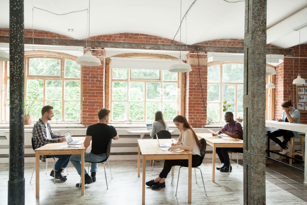 Millennials in a shared office space